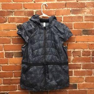 Lululemon Navy Blue Zip Vest with Hood Size 12